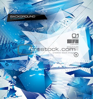 modern poligonal background for brochure and covers