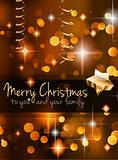 2015 Christmas Golden Background