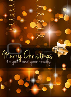 2015 Christmas Golden Background