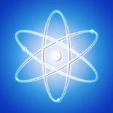 Atom icon - the symbol of science