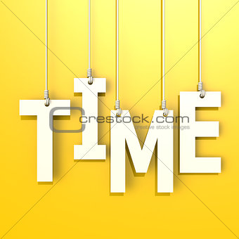 Time word in yellow background