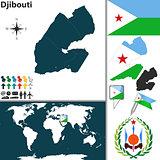 Map of Djibouti
