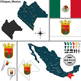 Map of Chiapas, Mexico