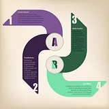 Cool infographic design with arrows
