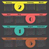 Ribbon 2015 calendar design