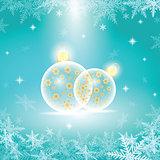 vector winter holiday illustration of christmas balls.