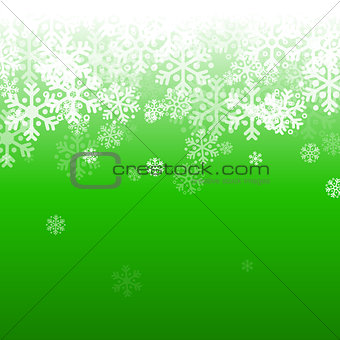 Abstract green and white christmas background