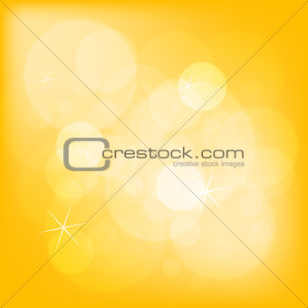 Abstract yellow bokeh christmas background