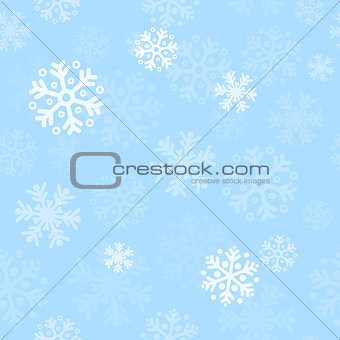 Abstract blue christmas seamless pattern background
