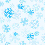 Abstract christmas seamless pattern background with snowflakes