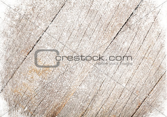 Old wood texture with snow