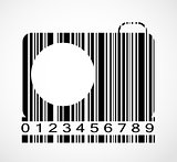 Barcode Camera  Image Vector Illustration