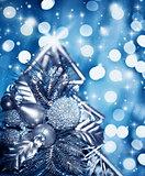 Beautiful silver Christmas tree decoration