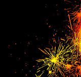 New Year eve holiday background with fireworks border