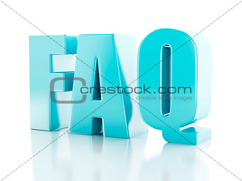 Frequently Asked Questions. FAQ concept. 3d illustration