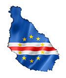 Cape Verde flag map