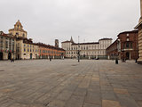View of  Piazza Castello Turin Piedmont Italy