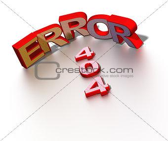 404 error symbol.