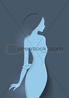 Beautiful woman's silhouette image