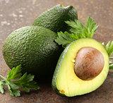 fresh organic ripe avocado