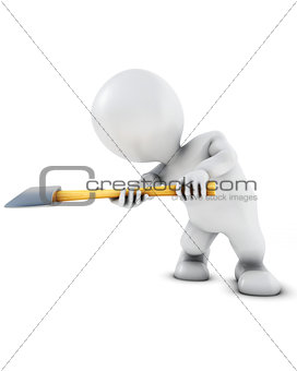 3D Morph Man swinging an axe