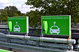 Charging station for electric cars.