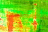 Green / Red and Yellow Abstract Background