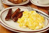 Sausage and eggs