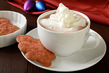 Christmas cookies and hot chocolate