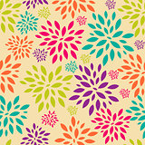 Flower Leaves Seamless Pattern Background Vector Illustration