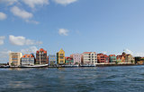 Curacao colorful harbor buildings