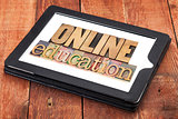 online education in wood type