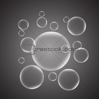Abstract background with gray glossy bubble