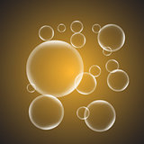 Abstract background with yellow glossy bubble