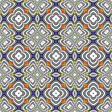 Design seamless colorful flower geometric pattern