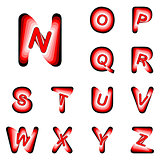 Design ABC letters from N to Z
