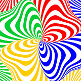 Design colorful swirl movement illusion background