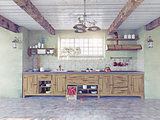 old-style kitchen interior