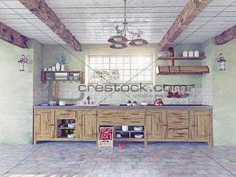 old-style kitchen interior