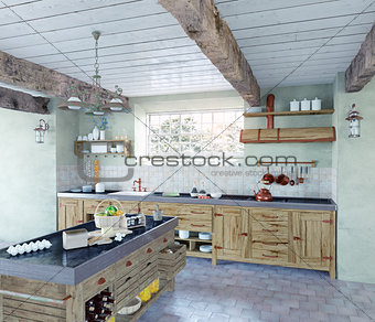 old-style kitchen