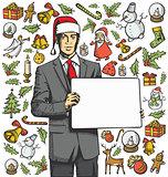 Christmas Card With Man