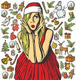 Christmas Card With Woman
