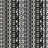 Seamless pattern with tribal ornaments for wrapping paper, texti