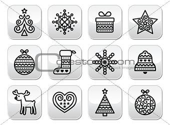 Christmas buttons with stroke