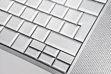 White empty keyboard.