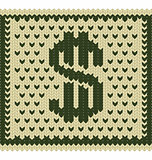 Knitted dollar scheme