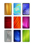 Set abstract colored drapery background