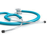 Blue professional stethoscope