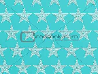 Blue star pattern