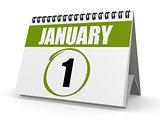January 1 green